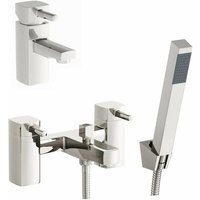 Derwent basin and bath shower mixer tap pack - Orchard