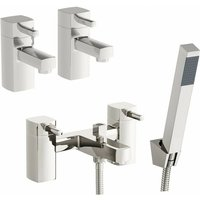Derwent basin tap and bath shower mixer tap pack - Orchard