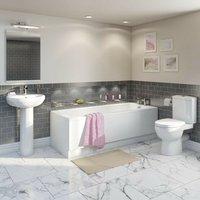 Eden bathroom suite with straight bath 1600 x 700 - Orchard