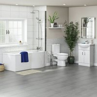 Eden complete right handed shower bath suite - Orchard