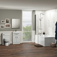 Eden complete shower bath suite with taps, shower and wastes - Orchard