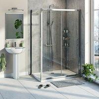 Kemp 6mm sliding shower enclosure 1000 x 800 - Orchard