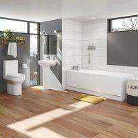 Orchard Wharfe bathroom suite with straight bath 1500 x 700