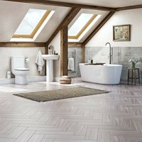 Wharfe complete freestanding bath suite with taps and wastes 1770 x 800 - Orchard