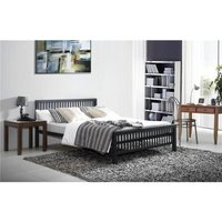 Oriental Shaker Style Black Metal Bed Frame - Double 4ft 6