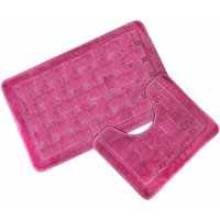 Orkney Dusky Pink Bath Mat and Pedestal Set - S.GREEN