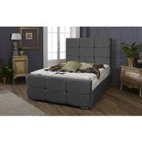 Furniturebox Uk - Oslo Asphalt Malia Double Bed Frame