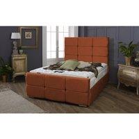 Oslo Burnt Orange Malia Single Bed Frame