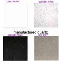 Oslone Round Marble Table Choice Of Granite, Marble Quartz Tops Starlight Black - Manufactured Quartz 110cm 75 cm Round Single Round