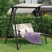 Outdoor Canopy Swing Chair Porch Hammock Seat Glider Sun Lounger Adjustable