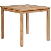 vidaXL Garden Table Solid Teak Wood 80x80x77 cm - Brown