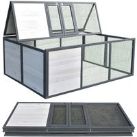 Outdoor enclosure foldable for rabbits Outdoor enclosure guinea pigs Enclosure white / grey - MUCOLA