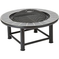 Outdoor Fire Pit Table Mesh Cap Grill Burner Brazier Stove Garden Patio Heater