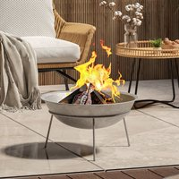 Outdoor Garden Firepit Round Fire Pit BBQ Grill Heater, 50CM