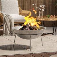 Outdoor Garden Firepit Round Fire Pit BBQ Grill Heater, 60CM