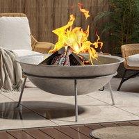 Outdoor Garden Firepit Round Fire Pit BBQ Grill Heater, 100CM