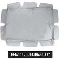 Outdoor Garden Patio Swing Sunshade Cover Canopy Seat Top Cover grey 164x114cm