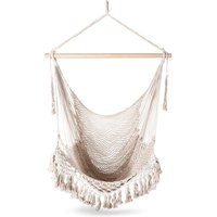 Outdoor Indoor Hammock Chair Hanging Swing, Cotton Rope Net Cradles Kids Adults Swing Seat Chairs - DAMAY