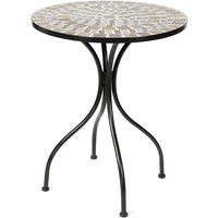 Outdoor Mosaic Bistro Table 60*72cm Black - KINGSO