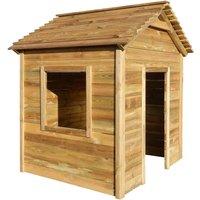 Zqyrlar - Outdoor Playhouse 123x120x146 cm Pinewood - Brown