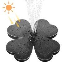 Perle Raregb - Outdoor Solar Fountain, Solar Bird Bath Fountain, 1.6W Solar Pond Pump, Floating Water Pump for Garden, Pool, Aquarium, Patio