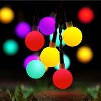 Briday - Outdoor Solar String Lights, 50 LED 7M Waterproof IP65 with 8 Modes Ambient Lighting Pretty Lights Romantic DIY Decoration for Garden Patio