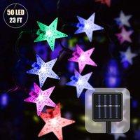 Soekavia - Outdoor Solar String Lights with Light Sensor 7M 50 LED Waterproof String Lights Star Crystal Balls Christmas Lights Decoration for Indoor