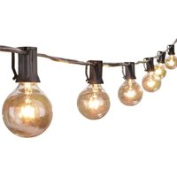 Outdoor String Lights 25 Feet G40 Globe Patio Lights with 25 Edison Glass Bulbs, Waterproof Connectable Hanging Light for Backyard Porch Balcony