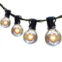 Outdoor String Lights 25ft Patio Lights with 27 G40 Bulbs (2 Spare) Connectable Globe String Lights for Party Tents Patio Gazebo Porch Deck Bistro