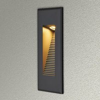 Lucande - Outdoor Wall Light Nuno (modern) in Black made of Aluminium (1 light source,) from brick Light, wall lamp for exterior/interior walls,