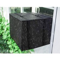 Outdoor Window Air Conditioner Cover Window AC Cover with Adjustable Straps Bottom Covered (25.5 W x 17 H x 21 D)