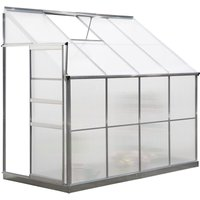 Outsunny 4X8FT On-Wall Side Walk-In Greenhouse Aluminium Polycarbonate Panels