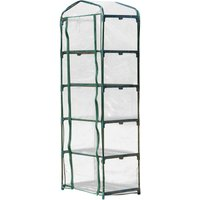 5 Shelf Mini Greenhouse Outdoor Flower Plant Shelter w/ PVC Cover Portable - Outsunny