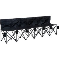 Outsunny Football 6 Seater Folding Bench Camping Portable Sp