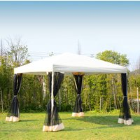 Outsunny Garden Gazebo Pop-Up Party Tent Canopy Marquee w/Mesh Sidewalls + Storage Bag (3 x 3m)