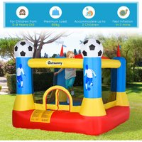 Outsunny Kids Football Field Bouncy Castle Inflatable w/