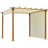 Outdoor Retractable Pergola Gazebo Garden Sun Shade Canopy Shelter - Outsunny