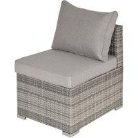 Outsunny PE Rattan Single Armchair Seat Garden Furniture w/ Cushions Light Grey