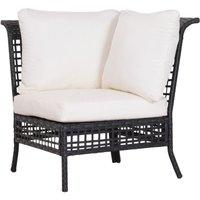 Rattan Single Corner Sofa Garden Furniture Wicker w/ Cushion and Pillow - Outsunny