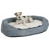 Mercatoxl - Oval Memory Foam Dog Bed - Grey L 117 x B 72 x H 24 cm