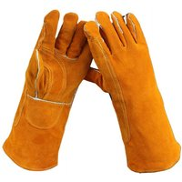 Betterlifegb - Oven Gloves, Leather Barbecue Gloves, 40cm Universal Heat Resistant Kitchen Gloves, Perfect for Grill BBQ Cuisine Cook Oven Light Coin