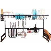 Neo Over Sink Kitchen Shelf Organiser Dish Drainer Drying Rack Utensils Holder 85cm