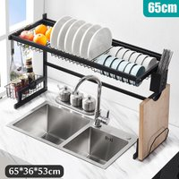 Over The Sink Dish Drying Rack Kitchen Holder 65CM