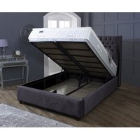Oxford Charcoal Victoria Double Bed Frame