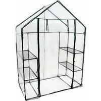 3-Tier 4 Shelf Mini Walk-in Growhouse Garden Greenhouse - Oypla