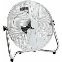 Electrical 20 Inch 50cm Chrome 3 Speed Floor Standing Gym Fan Hydroponic - Oypla