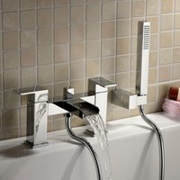 Ozone Waterfall Chrome Bath Shower Mixer Tap with Handset Kit