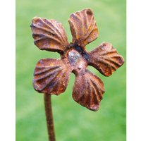 Pack of 3 Lilly Feature Plant Pinn 4Ft (Bare Metal/Natural Rust)