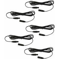 First Choice Lighting - Pack of 5 x 1m Head Extension Leads - for use with our White and Blue Decking Kits only