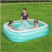 2.01m x 1.50m x 51cm Blue Rectangular Paddling Pool - Bestway